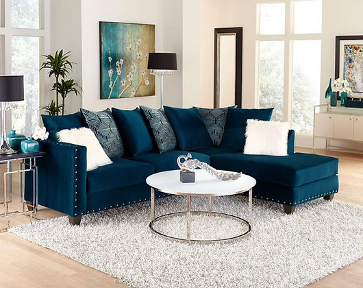 GROOVY BLUE SECTIONAL