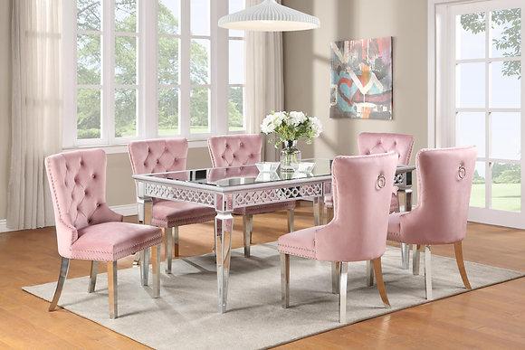 Velik Pink 6pc Dining Set