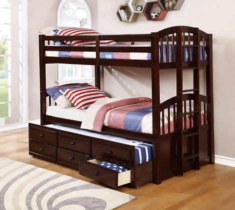 Twin Over Twin Captain Bunkbed