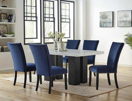 Royal Blue 5pc Dining Group