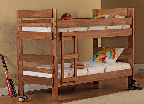 TWIN TWIN WOOD BUNKBED