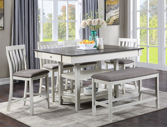 White Ash 5pc Dining Group