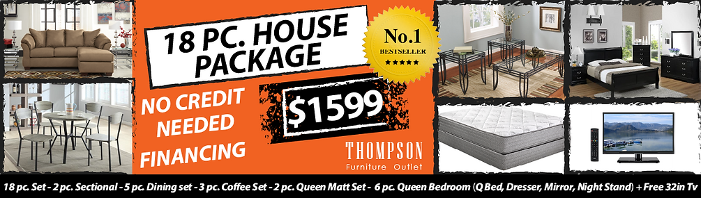 Thompson Furniture Outlet 18pc House Package Deal