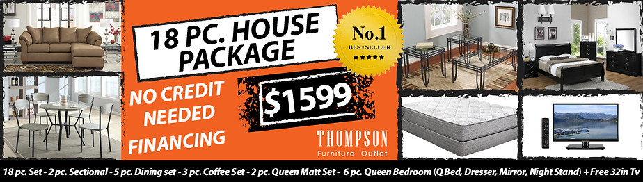 Thompson Furniture Outlet 18pc House Package Deal No Credit Needed Financing