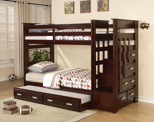 Twin Over Twin Over Twin Bunkbed