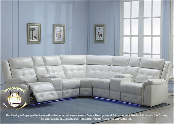 DALLAS LED WHITE SECTIONAL