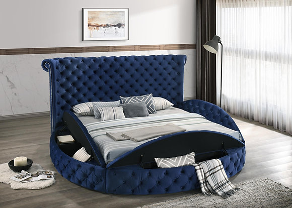Wexford Royal Blue Round Bed