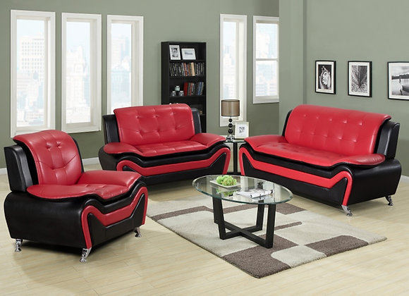 TOKIO RED 2PC SOFA, LOVE