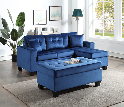 ROYAL BLUE SMALL SECTIONAL