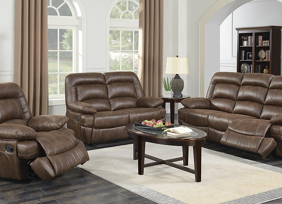 BOSTON 2PC RECLING SOFA,LOVE