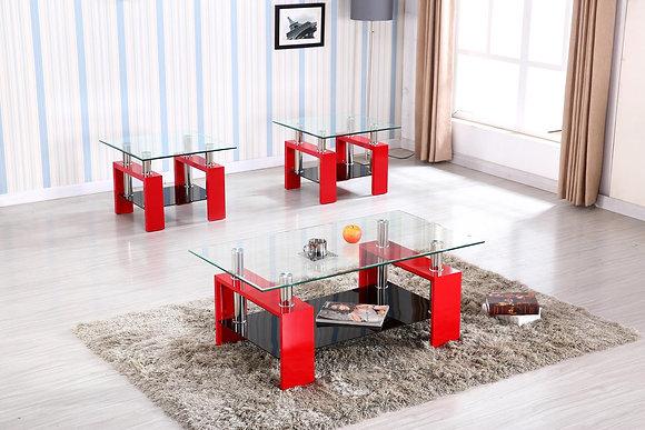 Retro Red Coffee Table Set