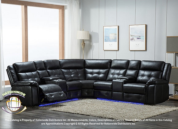 DALLAS LED BLACK SECTIONAL