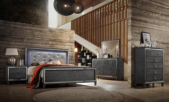 Nataly Grey Bedroom Set