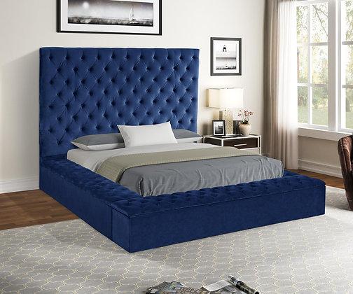 Royal Blue Storage Bed