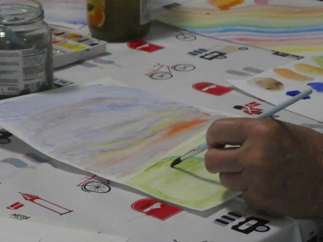 Nørkleri med akvarel til KREA Camp