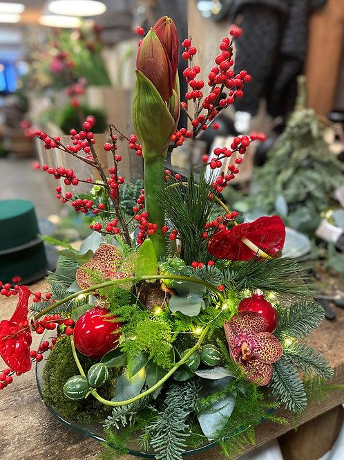 klassiek rood bloemstuk