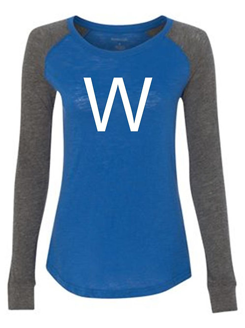 Baseball/Softball Preppy Patch Slub T-Shirt