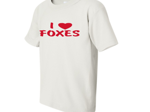 I Love Foxes Short Sleeve Tee