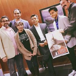 con Miguel Rojas ,director NCLAFF