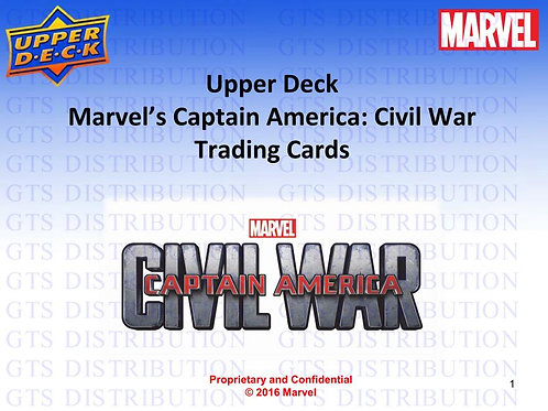 映画トレカ 2016 UPPER DECK UD Marvel's Captain America Civil War