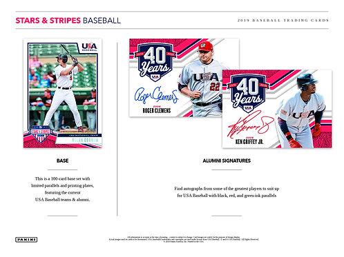 MLB 2019 Panini Stars & Stripes USA Baseball box #MLB #NPB #日本代表