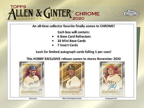 MLB 2020 TOPPS Allen and Ginter Chrome Baseball box #Topps #LuisRobert