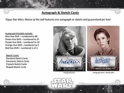 2020 Topps Star Wars B&W Return of the Jedi box #サインカード #StarWars #スターウォーズ
