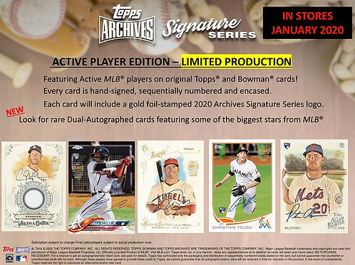 MLB 2020 Topps ARCHIVES SIGNATURE box #TOPPS #BASEBALL #MLB