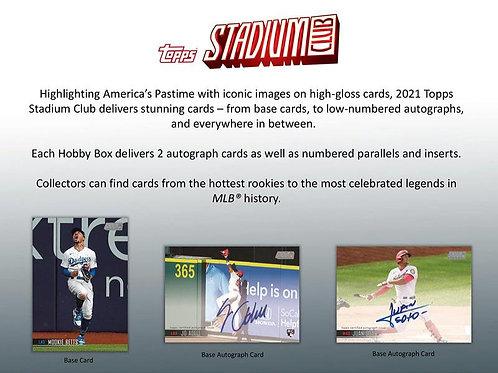 MLB 2021 TOPPS STADIUM CLUB Hobby Baseball box #TOPPS #野球カード #メジャーリーグ