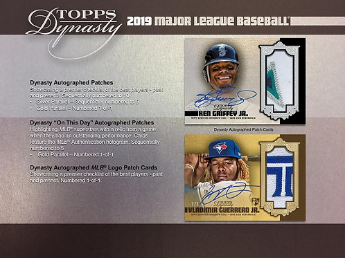 MLB 2019 TOPPS DYNASTY box #petealonso #guerrerojr