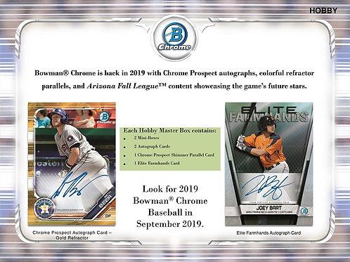 MLB 2019 BOWMAN CHROME Hobby box #MLB #PETEALONSO #GUERREROJr