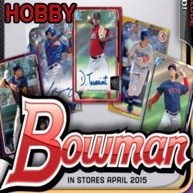 MLB 2015 BOWMAN HOBBY BOX #ALBIES #DEVERS