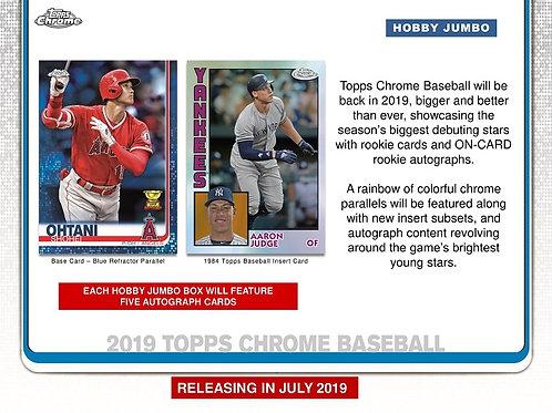 MLB 2019 TOPPS CHROME Jumbo Baseball box #MLB #大谷翔平 #GUERREROJr #ALONSO