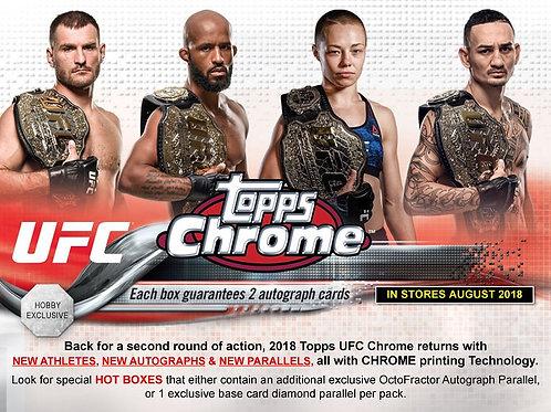 UFC 2018 TOPPS UFC CHROME box