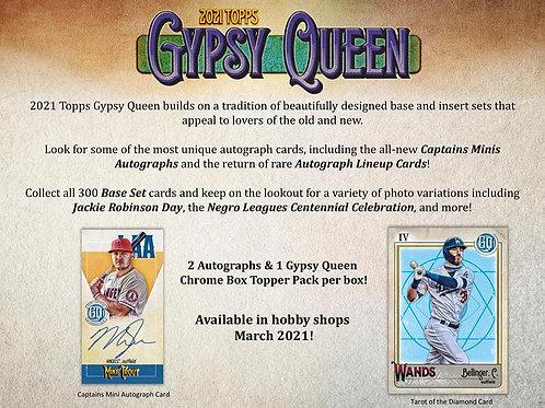 MLB 2021 TOPPS Gypsy Queen Baseball box #TOPPS #野球カード #メジャーリーグ