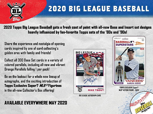 MLB 2020 TOPPS BIG LEAGUE Hobby box #TOPPS #BASEBALL #MLB #BoBichette