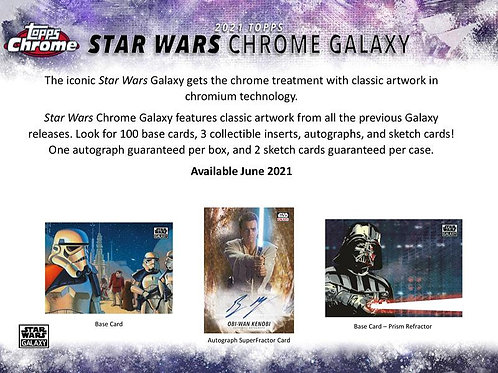 2021 Topps STAR WARS CHROME GALAXY Hobby box #StarWars #スターウォーズ