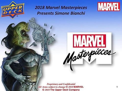 2018 UPPER DECK Marvel MASTERPIECES box #スケッチカード #マーベル #MARVEL