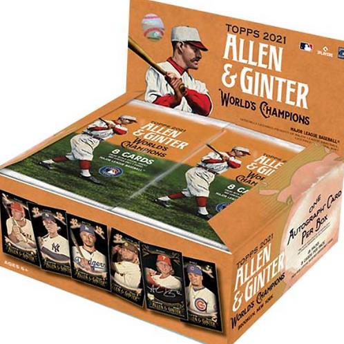 MLB 2021 TOPPS ALLEN AND GINTER X Baseball box #TOPPS #野球カード #大谷翔平