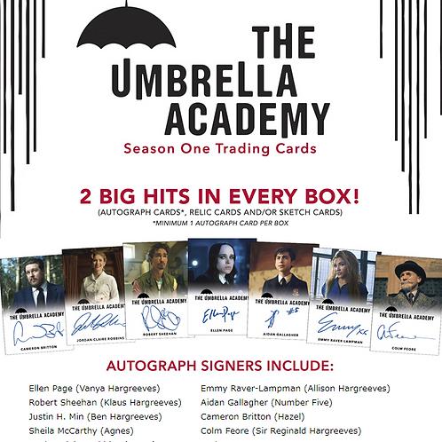 箱下部凹み破損品 2020 Rittenhouse The Umbrella Academy season1 box #サインカード #アンブレラアカデミー