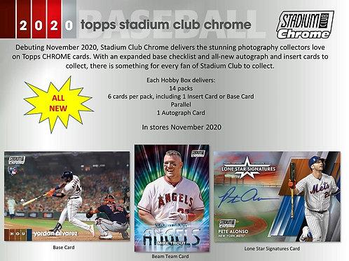 MLB 2020 TOPPS STADIUM CLUB Chrome Baseball box #Topps #LuisRobert
