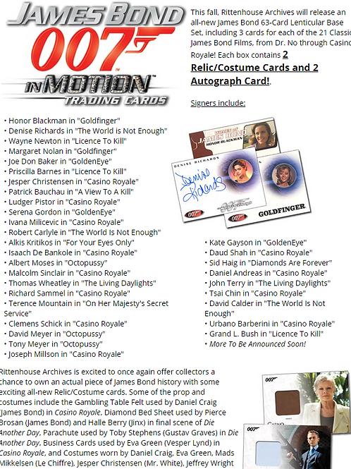 2008 RITTENHOUSE JAMES BOND IN MOTION box #4HITS #007 #JAMESBOND