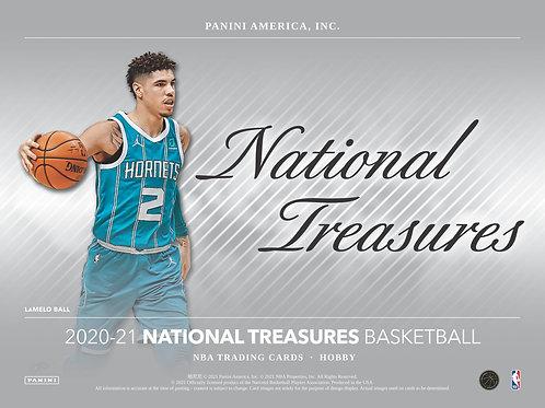 NBA 2020-21 Panini NATIONAL TREASURES box #NBA #LameloBall #Panini