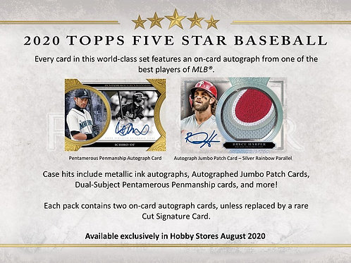 MLB 2020 TOPPS FIVE STAR box #LuisRobert #BoBichette #Topps