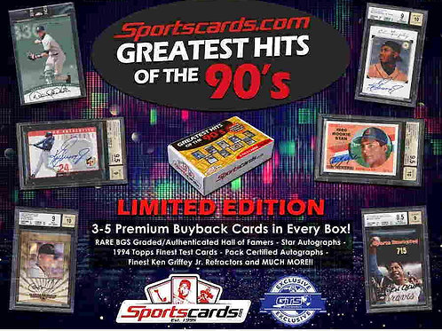 2019 GREATEST HITS OF THE 90'S BASEBALL box #MLB #VINTAGE