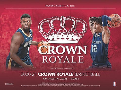 NBA 2020-21 Panini CROWN ROYALE box #NBA #LameloBall #Panini #AnthonyEdwards