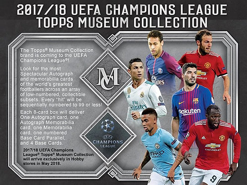 SOCCER 2018 TOPPS MUSEUM COLLECTION CHAMPIONS LEAGUE box #MBAPPE