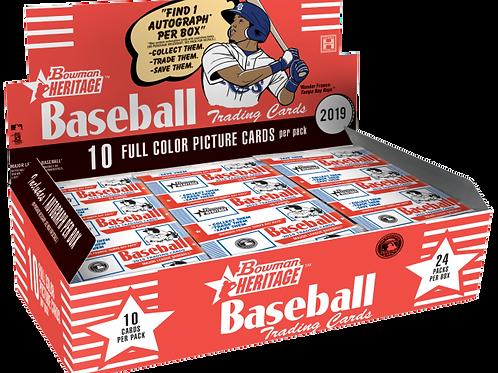 MLB 2019 BOWMAN HERITAGE box #bowman #Wonderfranco