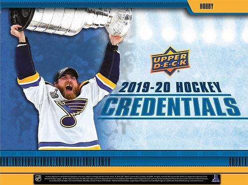 NHL 2019-20 UD Upper Deck CREDENTIALS box #Hockey #NHL #アイスホッケー