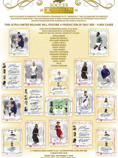 SOCCER 2018 LEAF IMMORTAL 1case #サッカーカード #メッシ #ロナウド